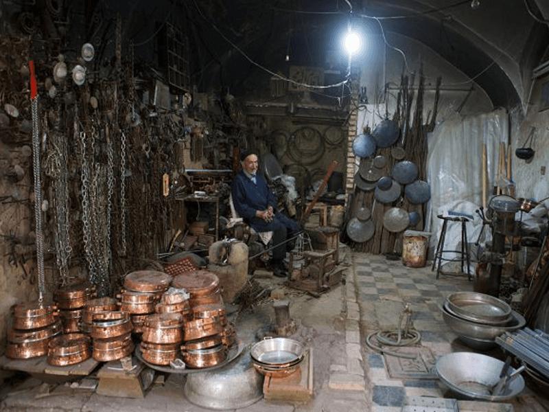 بازار_مسگرها_یا_بازار_پنجه_علی_یزد